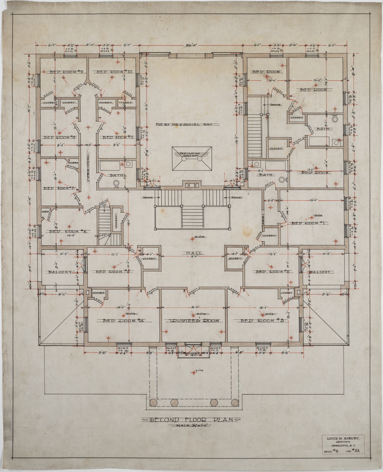 Second Floor Plan Administration Building Stonewall