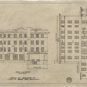 Rear elevation, Union Street elevation