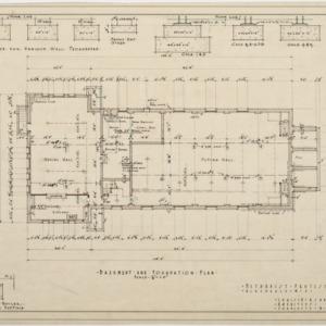 Basement and foundation plan