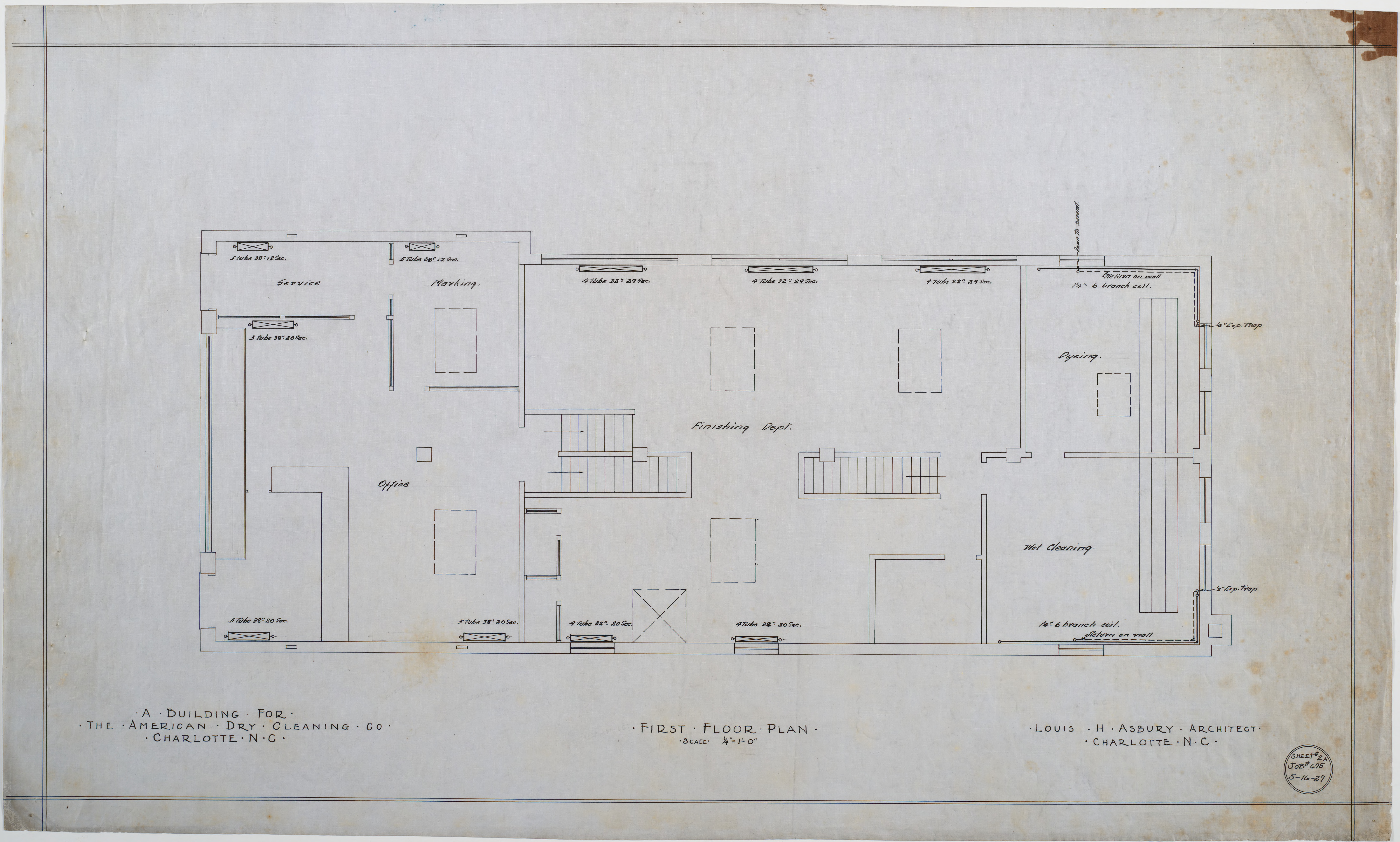 First floor plumbing plan