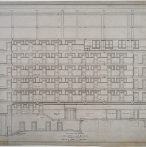 Section through building