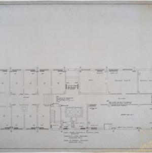 First floor heating and plumbing plan