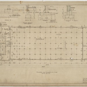 Basement and foundation plan, theater