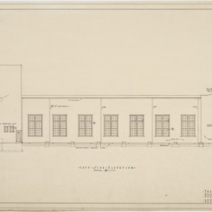 Left side elevation, theater