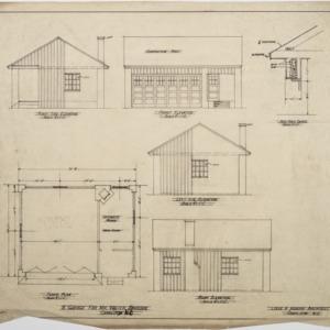 Garage floor plan and elevations