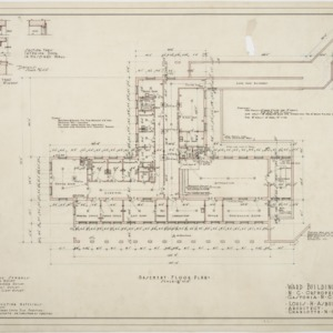 Basement floor plan of Ward Building