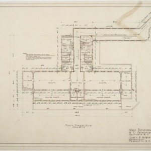 First floor plan of Ward Building