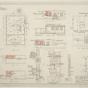 Floor plan, sections, elevations of Heating Plant