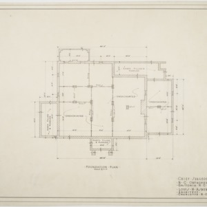 Foundation plan of Chief Surgeon's Residence