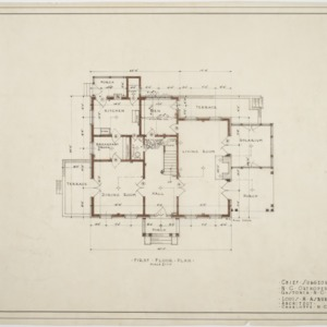 First floor plan, Chief Surgeon's Residence