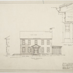 Front elevation, Chief Surgeon's Residence