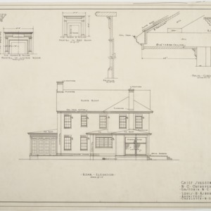 Rear elevation, Chief Surgeon's Residence