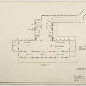 First floor heating plan for Ward Building