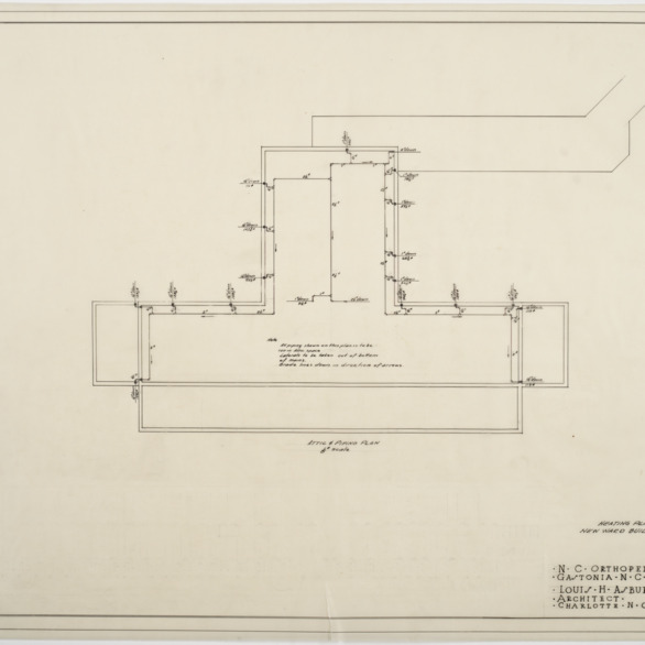 Attic piping and heating plan for Ward Building