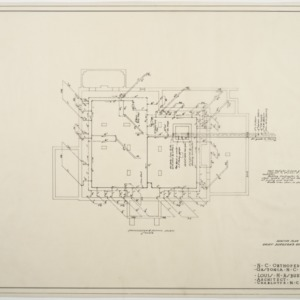 Foundation heating and piping plan, Chief Surgeon's Residence
