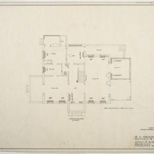 First floor heating plan, Chief Surgeon's Residence