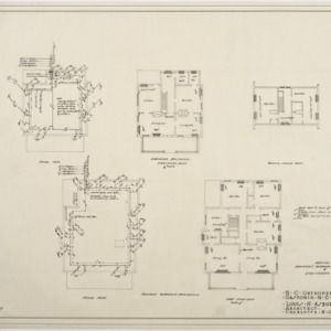 Heating plans, Assistant Surgeon's and Engineer's Residence
