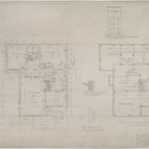 Basement and foundation plan, floor plan