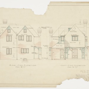 Right side elevation and left side elevation