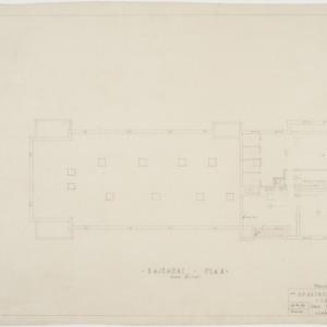 Basement heating, plumbing, and wiring plan