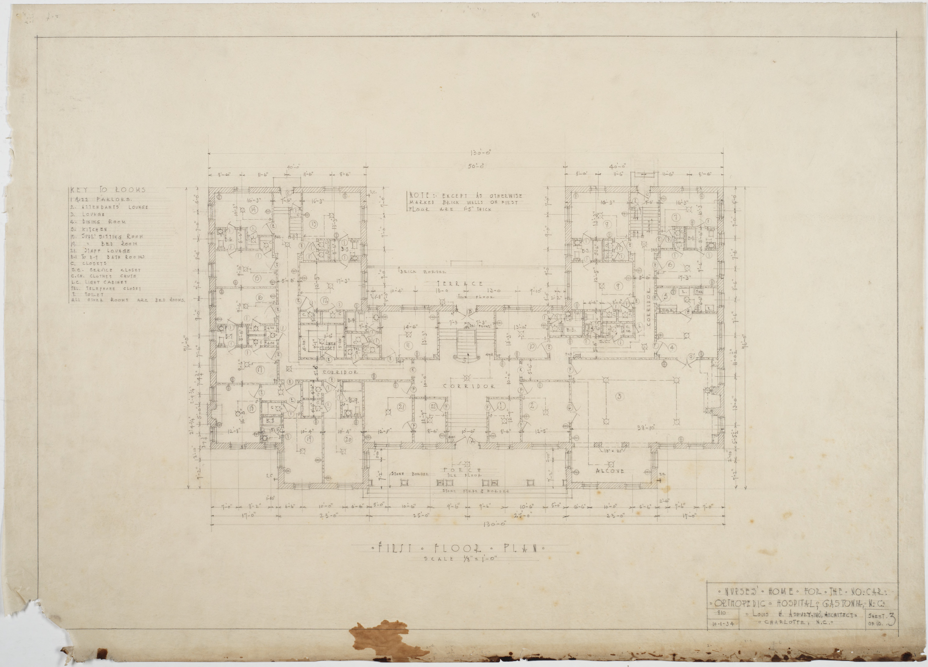 First Floor Plan North Carolina Orthopedic Hospital