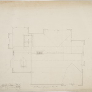 Roof and attic plan
