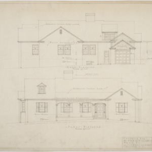 Rear elevation, front elevation