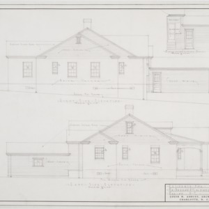 Right side elevation, left side elevation