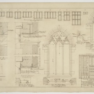 Window elevation, details and schedule