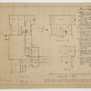 Floor plans and notes