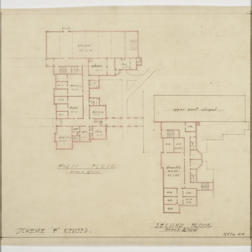 First floor and second floor plans
