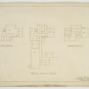 Second floor, first floor and basement floor plans