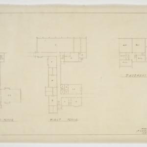 Second floor, first floor and basement floor plan