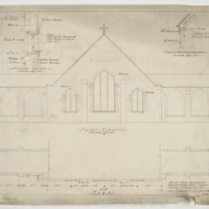 Front elevation and plan
