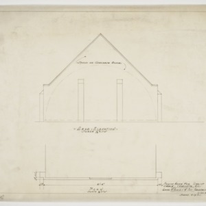Roof elevation and plan