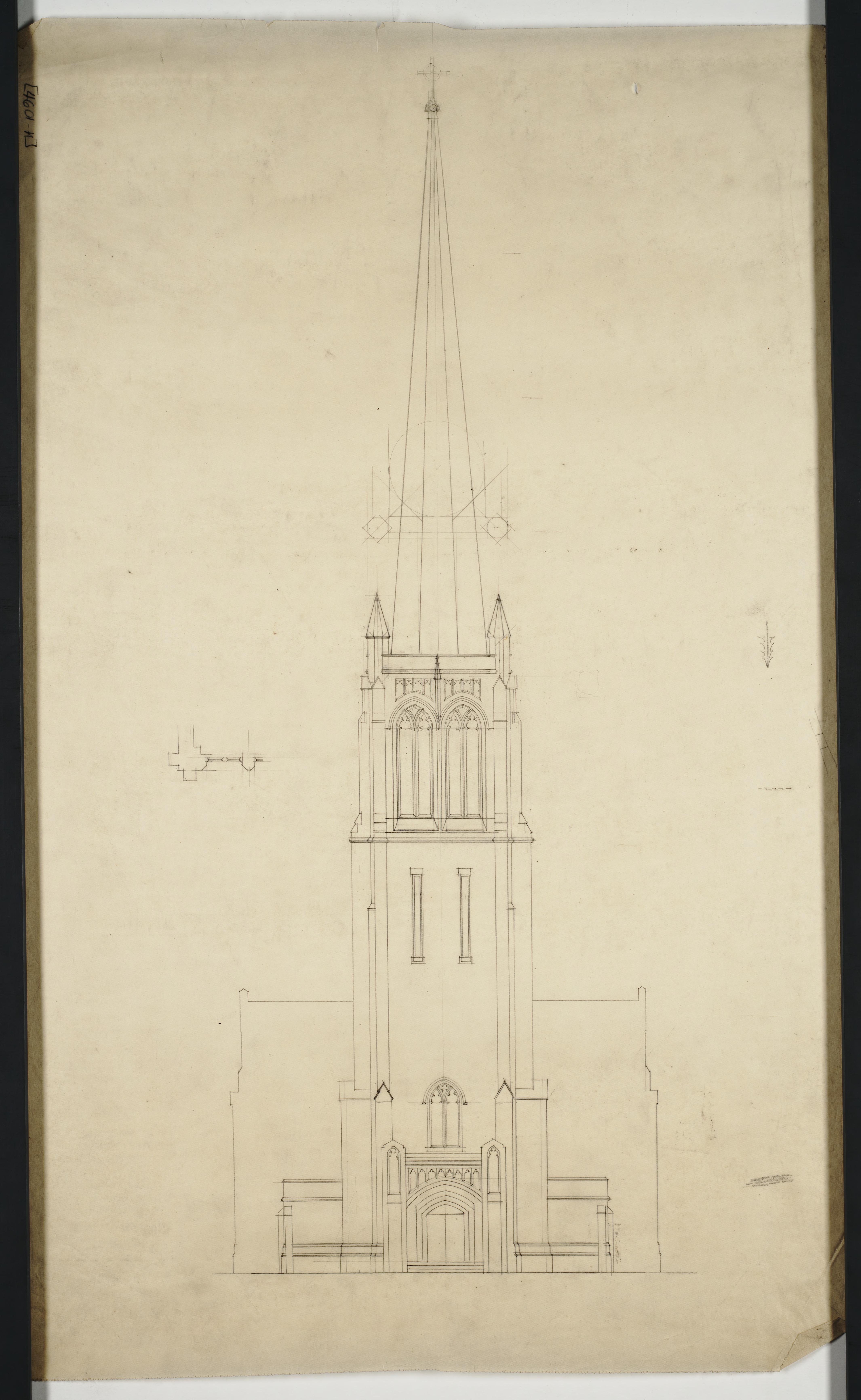 Front Elevation Sketch : Front elevation sketch christ church parish house