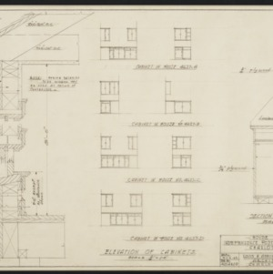 Wall and Cabinet Sections, Elevations