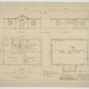 Foundation Plan; Floor Plan; Front and Rear Elevations