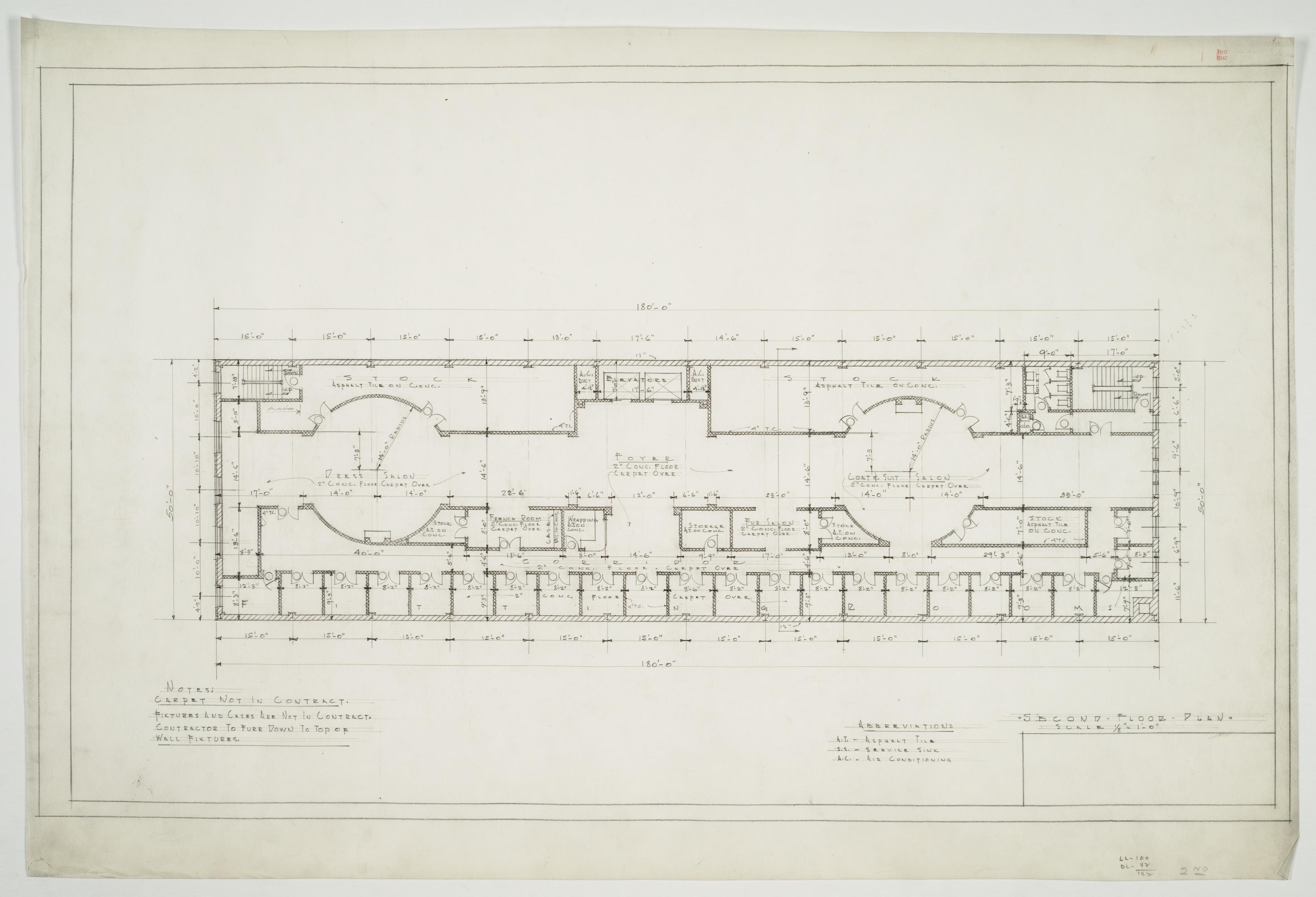 Second Floor Plan (Montaldo's Department Store (Charlotte