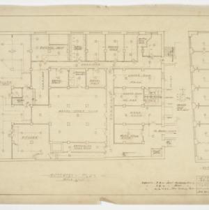 Basement and mezzanine floor plan