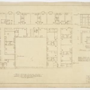Bedroom floor plan and stairway details