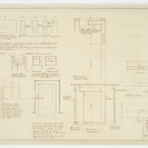 Door details and lobby elevations and plan