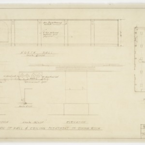 Dining room wall and ceiling elevations and plans