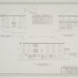 Elevations and window schedule