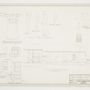 West Elevation and Miscellaneous Details