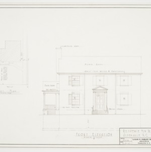 Front elevation and plot plan