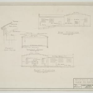 Elevations and sectional elevation