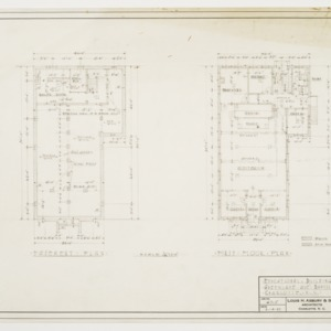 Basement and First Floor Plans