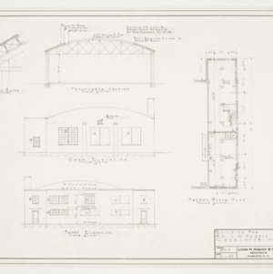 Elevations, sectional elevation and second floor plan