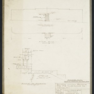 Door and foundation plans and sections
